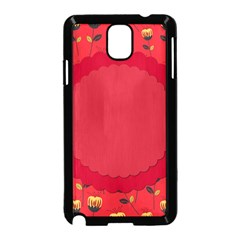 Floral Roses Pattern Background Seamless Samsung Galaxy Note 3 Neo Hardshell Case (Black)