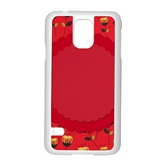 Floral Roses Pattern Background Seamless Samsung Galaxy S5 Case (White)