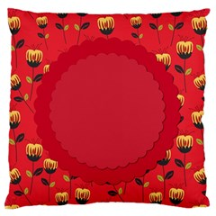 Floral Roses Pattern Background Seamless Standard Flano Cushion Case (Two Sides)