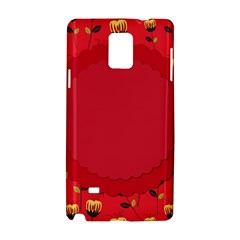 Floral Roses Pattern Background Seamless Samsung Galaxy Note 4 Hardshell Case