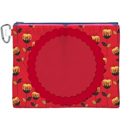 Floral Roses Pattern Background Seamless Canvas Cosmetic Bag (XXXL)