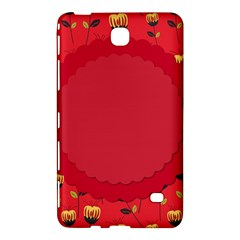 Floral Roses Pattern Background Seamless Samsung Galaxy Tab 4 (7 ) Hardshell Case