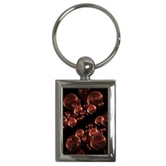 Fractal Chocolate Balls On Black Background Key Chains (Rectangle)