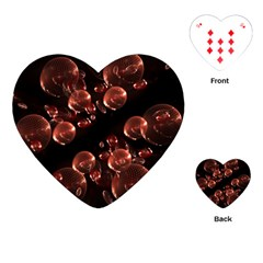 Fractal Chocolate Balls On Black Background Playing Cards (heart)