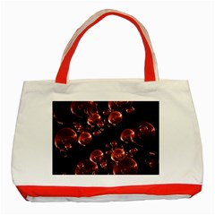 Fractal Chocolate Balls On Black Background Classic Tote Bag (red)