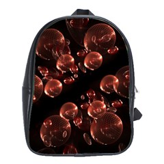 Fractal Chocolate Balls On Black Background School Bags(large)