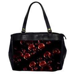 Fractal Chocolate Balls On Black Background Office Handbags