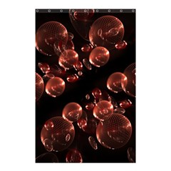 Fractal Chocolate Balls On Black Background Shower Curtain 48  X 72  (small)