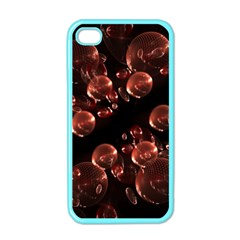 Fractal Chocolate Balls On Black Background Apple iPhone 4 Case (Color)