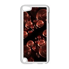 Fractal Chocolate Balls On Black Background Apple iPod Touch 5 Case (White)