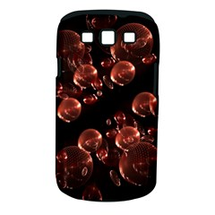 Fractal Chocolate Balls On Black Background Samsung Galaxy S III Classic Hardshell Case (PC+Silicone)