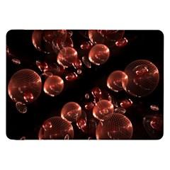 Fractal Chocolate Balls On Black Background Samsung Galaxy Tab 8.9  P7300 Flip Case