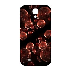 Fractal Chocolate Balls On Black Background Samsung Galaxy S4 I9500/I9505  Hardshell Back Case