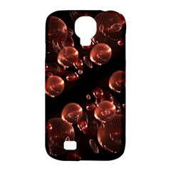 Fractal Chocolate Balls On Black Background Samsung Galaxy S4 Classic Hardshell Case (PC+Silicone)