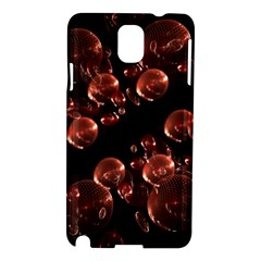 Fractal Chocolate Balls On Black Background Samsung Galaxy Note 3 N9005 Hardshell Case
