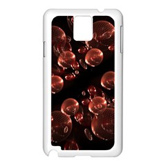 Fractal Chocolate Balls On Black Background Samsung Galaxy Note 3 N9005 Case (White)