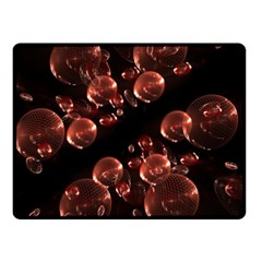 Fractal Chocolate Balls On Black Background Double Sided Fleece Blanket (Small)