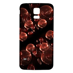 Fractal Chocolate Balls On Black Background Samsung Galaxy S5 Back Case (White)