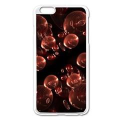Fractal Chocolate Balls On Black Background Apple iPhone 6 Plus/6S Plus Enamel White Case
