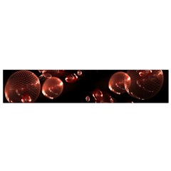 Fractal Chocolate Balls On Black Background Flano Scarf (Small)