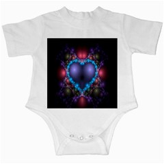 Blue Heart Fractal Image With Help From A Script Infant Creepers