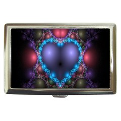 Blue Heart Fractal Image With Help From A Script Cigarette Money Cases