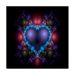 Blue Heart Fractal Image With Help From A Script Face Towel