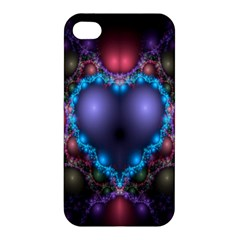 Blue Heart Fractal Image With Help From A Script Apple iPhone 4/4S Premium Hardshell Case