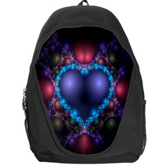 Blue Heart Fractal Image With Help From A Script Backpack Bag