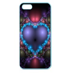 Blue Heart Fractal Image With Help From A Script Apple Seamless iPhone 5 Case (Color)