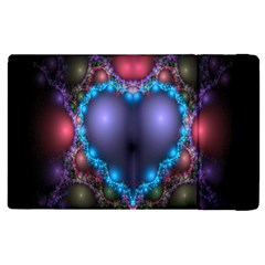 Blue Heart Fractal Image With Help From A Script Apple iPad 2 Flip Case