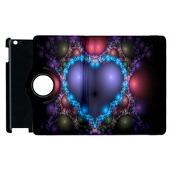 Blue Heart Fractal Image With Help From A Script Apple Ipad 2 Flip 360 Case