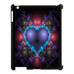 Blue Heart Fractal Image With Help From A Script Apple iPad 3/4 Case (Black)