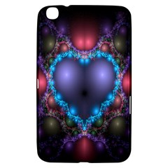 Blue Heart Fractal Image With Help From A Script Samsung Galaxy Tab 3 (8 ) T3100 Hardshell Case