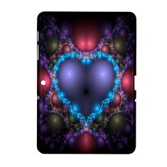 Blue Heart Fractal Image With Help From A Script Samsung Galaxy Tab 2 (10.1 ) P5100 Hardshell Case
