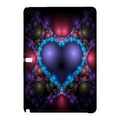 Blue Heart Fractal Image With Help From A Script Samsung Galaxy Tab Pro 12 2 Hardshell Case