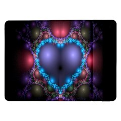 Blue Heart Fractal Image With Help From A Script Samsung Galaxy Tab Pro 12.2  Flip Case