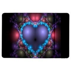 Blue Heart Fractal Image With Help From A Script iPad Air 2 Flip