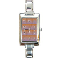 Brick Wall Squared Concentric Squares Rectangle Italian Charm Watch