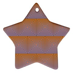 Brick Wall Squared Concentric Squares Ornament (star)