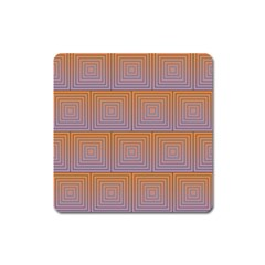 Brick Wall Squared Concentric Squares Square Magnet