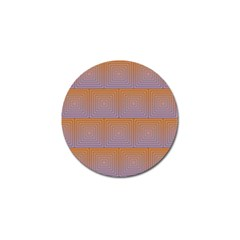 Brick Wall Squared Concentric Squares Golf Ball Marker