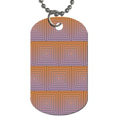 Brick Wall Squared Concentric Squares Dog Tag (two Sides)