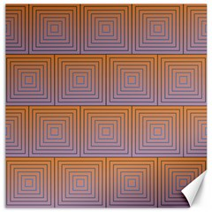 Brick Wall Squared Concentric Squares Canvas 16  X 16