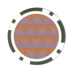 Brick Wall Squared Concentric Squares Poker Chip Card Guard
