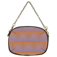 Brick Wall Squared Concentric Squares Chain Purses (two Sides)