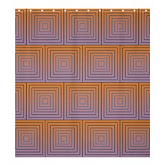 Brick Wall Squared Concentric Squares Shower Curtain 66  x 72  (Large)
