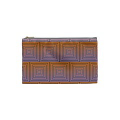 Brick Wall Squared Concentric Squares Cosmetic Bag (Small)