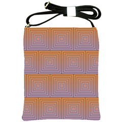 Brick Wall Squared Concentric Squares Shoulder Sling Bags