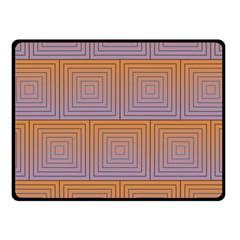 Brick Wall Squared Concentric Squares Fleece Blanket (small)